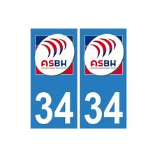 34 ASBH Bézier rugby autocollant plaque sticker logo2 droits