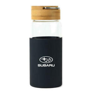 Subaru Logo 18 oz. Bamboo Glass Bottle Outback Forester WRX Ascent Forester Cup