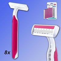 Soft Touch 3-Klingen Rasierer, 8 Stück Rasierer mit Soft-Griff, Einwegrasierer