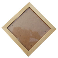 Square Thick Pine Wood Photo Frame Wall Picture Frame (Wood Color,6 Inch) L7N3