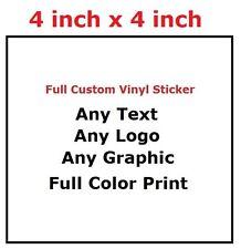 "1000 pcs of 4"" Custom Square premium Vinyl Stickers - Waterproof and UV-rated"