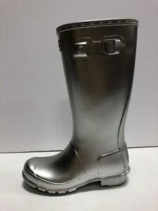 Hunter Original Rain Boot Silver Boys 2 M Youth