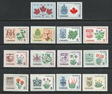 Canada #417-429A MNH VF Provincial Flowers & Coats of Arms