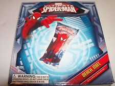 """Marvel Spiderman Beach Mat 47"""" x 24"""" Pool Float with Repair Patch. Fast Ship!"""