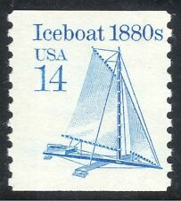 USA 1985 Iceboat/Ice Boat/Land Yacht/Sailing/Transport 1v coil (n43756)