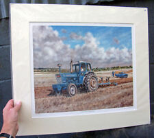 Ford 7000 Tractor ploughing [Ransomes] / Ford Escort van by Steven Binks