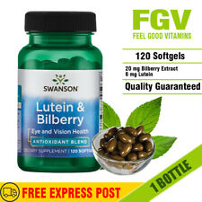 Swanson Lutein & Bilberry 120 softgels EYE & VISION HEALTH - Antioxidant Blend