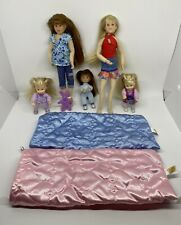 Mixed Lot of Only Hearts Club OHC: 5 Cloth Dolls, 2 Sleeping Bags, 1 Rabbit Pet