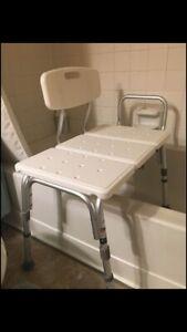 Carex Tub Transfer Bench Shower Chair Transfer Bench