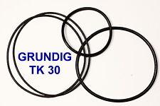 SET BELTS GRUNDIG TK 30 REEL TO REEL EXTRA STRONG NEW FACTORY FRESH TK30