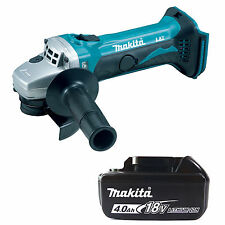 MAKITA 18V LXT BGA452Z ANGLE GRINDER & BL1840 BATTERY FUEL CELL INDICATOR