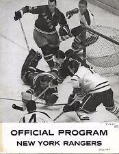 1962-63 New York Rangers-Canadiens Program Gump Blanks Habs in Finale!!