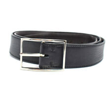 Tods Classic Reversible Mens Leather Belt Black / Brown Size 40