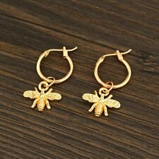 Bee Hoop Earrings With Pendant Gold Silver Color Lovely Earrings Jewelry