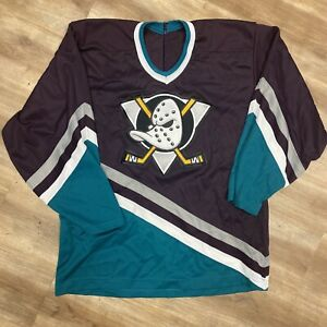 ANAHEIM MIGHTY DUCKS NHL HOCKEY VINTAGE 90s CCM ULTRAFIL JERSEY ADULT MEDIUM