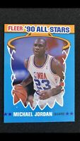 1990 FLEER ALL-STAR MICHAEL JORDAN #5  Basketball Card  Last Dance Bulls Mint