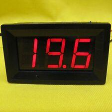 Temperature Meter Red 12V dc Digital LED Thermometer Detector & 2m Probe Sensor