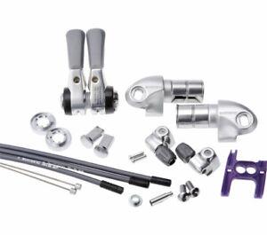 Shimano bar end gear lever Dura-Ace SL-BS77 2/3x9-speed silver pair