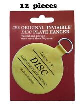 """12 X 75mm (3"""") Self Adhesive Sticky Invisible Display Plate Dish Hangers"""
