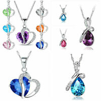 NEW chain Necklace Waterdrop Pendant Rhinestone Crystal Wedding party Jewelry