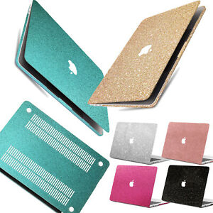 Shinny Glitter Powder Coated Laptop Hard Cut Out Case Cover For Macbook Pro Air