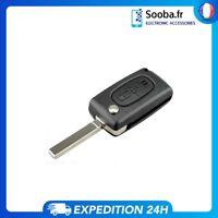 Coque clé plip pour Peugeot 107 207 307 407 807 CE 0536 2 boutons Boitier