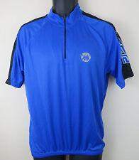 Crane Cycling Blue Retro Jersey Top Shirt Crane Trikot Maglia Mens M Medium