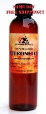 Citronella Essential Oil Aromatherapy 100% Pure Natural 4 Oz