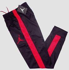 NWT NIKE AIR JORDAN Boys JUMPMAN Jogger Sweat Pants BLACK Red Youth L 12-13 Age