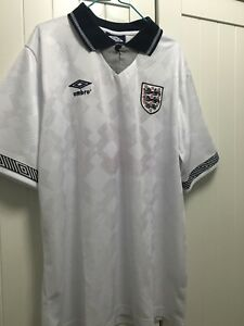 ENGLAND Shirt GASCOIGNE 1990 World Cup Size Large FOOTBALL SHIRT JERSEY Gazza