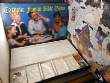 Vtg Complete Divinity Catholic Family Bible Board Game Church & Bishop Approved