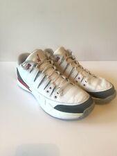 Nike Zoom Vapor RF X AJ3 Mens 10.5 Roger Federer Air Jordan 3 Fire Red / White