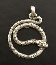 Pendentif  tibetain Serpent enlacé Bijou Createur unique argent 11 - 6885
