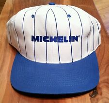 Michelin Tires Snapback Cap Trucker Hat/white blue pinstripe/fishing hunting new