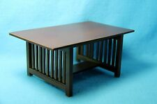 Dollhouse Miniature Wood Dining Room Mission Table in Walnut T6240