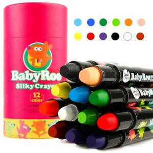 Crayon Silky Washable FACE & BODY DRAWING 12 Colors Baby Kid Children Ideal Gift