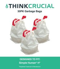 30PK Durable Garbage Bags Fit Simple Human H, 30-35L / 8-9 Gallon