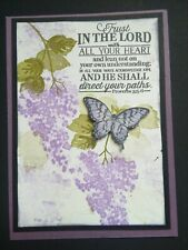 Stampin Up hydrangea lilac scripture butterfly card kit spring