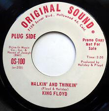 KING FLOYD 45 Walkin & Thinkin / Why Did She Leave Me PROMO Soul POPCORN w6246