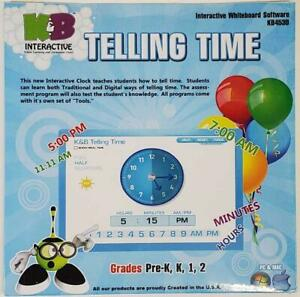 Interactive Whiteboard Software Telling Time K&B KB4530 NEW 2011 for PC & MAC