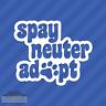 Spay Neuter Adopt Paw Print Vinyl Decal Sticker