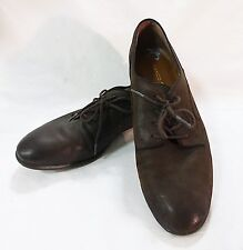 Franco sarto tundra women 8M upper leather lace up brown shoe casual work