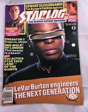 Starlog # 162 - LeVAR BURTON STAR TREK the NEXT GENERATION collectible cover