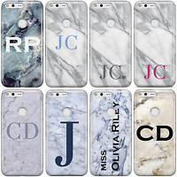 DYEFOR MARBLE INITIALS PERSONALISED V2 PHONE CASE COVER FOR GOOGLE