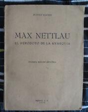 RUDOLF ROCKER : MAX NETTLAU. Mexico 1950. 1st Spanish ed