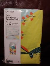 Ikea Lattjo Duvet Cover & Pillowcase Set Twin Bed Kids Bedding NEW Animal Forest