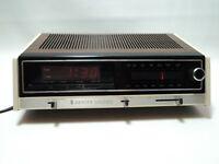 Vintage Zenith Electronic Digital Alarm Clock Am Fm Radio H461w Wood Grain