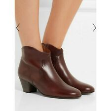 Isabel Marant Dicker Boots, Size 41, 11, Brown / Bordeaux Leather Retail $585