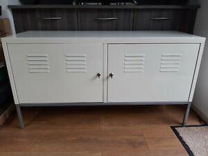 Ikea Ps TV Cabinet Cream Metal Locking Doors 2 Keys