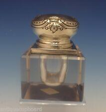 Ferdinand Fuchs & Bros. Sterling Silver Inkwell w/Crystal Circa 1880'S (#0381)